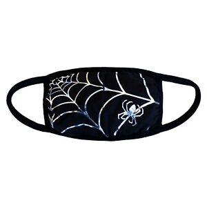 Kreepsville-666-Gothic-Horror-Black-Widow-Spider-Web-Fabric-Reusable-Face-Mask