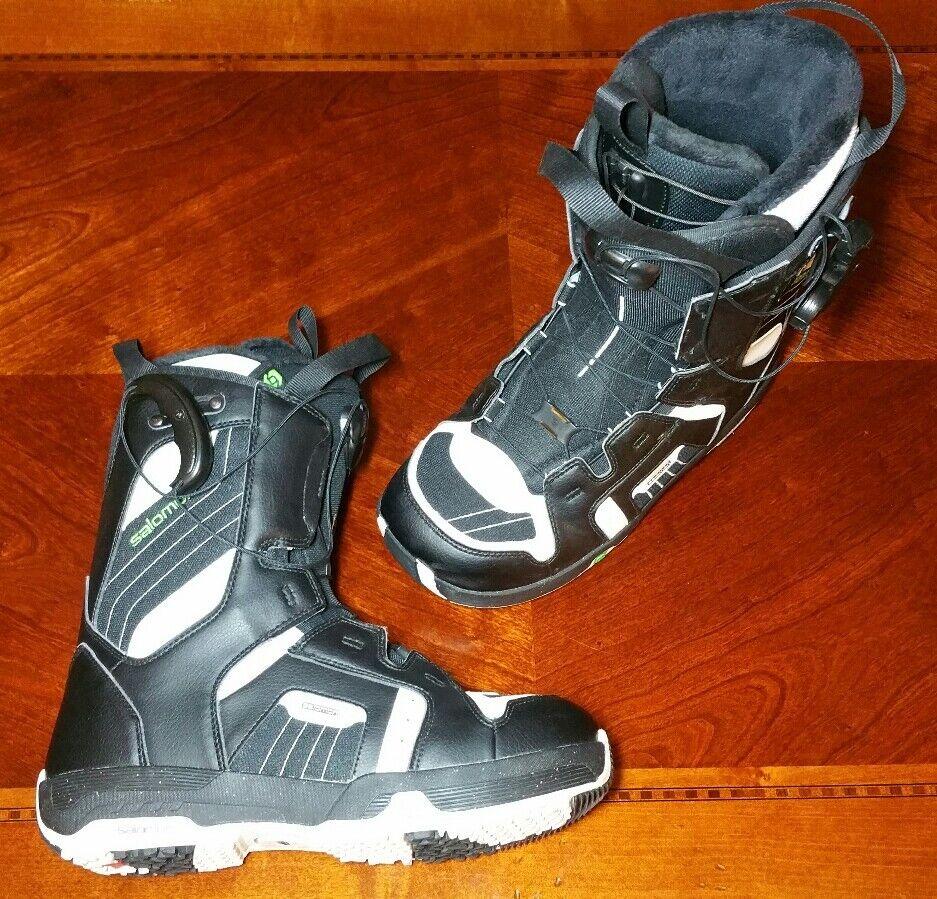 Salomon Faction Snowboard Boots Mens Size 8 (Eur 41) - Mint Condition
