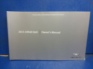 Array - 2015 infiniti q40 sedan new over stock oem owners manual gg504      rh   ebay com