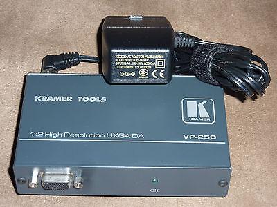 New Kramer vp-200 Computer Graphics Video Distribution Amplifier w// ac adapter
