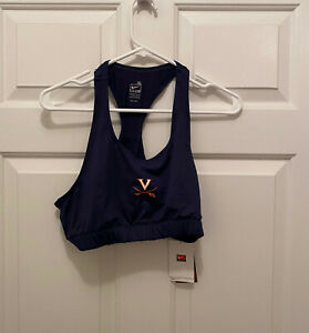 NWT-Virginia-UVA-Cavaliers-Women-039-s-Soccer-Team-Issued-Nike-Blue-Sports-Bra-XL