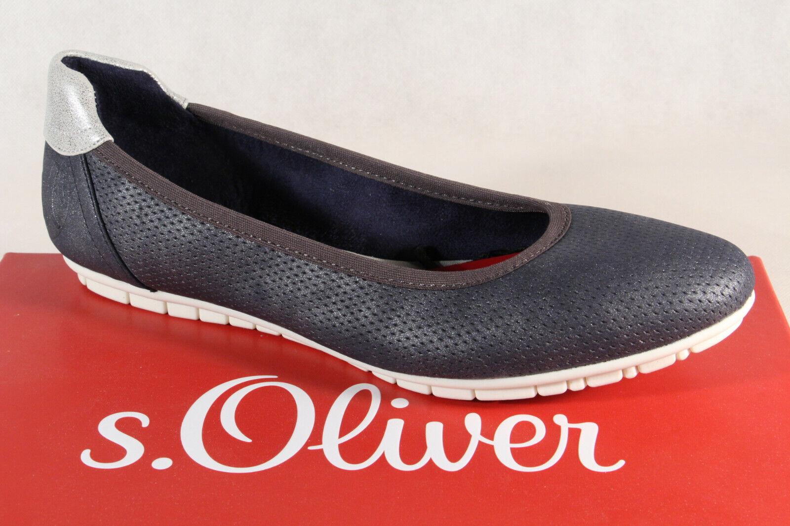 spedizione veloce in tutto il mondo S.Oliver Pantofole di Ballerina Ballerina Ballerina scarpe da ginnastica Décolleté Blu 22119 Nuovo  all'ingrosso a buon mercato