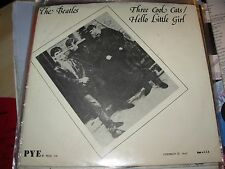 "BEATLES three cool cats / hello little girl ( rock ) 7"" / 45 picture sleeve pye"