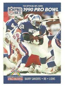quality design a23e5 07b40 Details about 1990 Pro Set Pro Bowl #413 Barry Sanders Detroit Lions