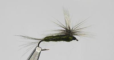 Bluewing Olive Parachute Mayfly Assortment; 1 Dozen Trout Fishing Flies