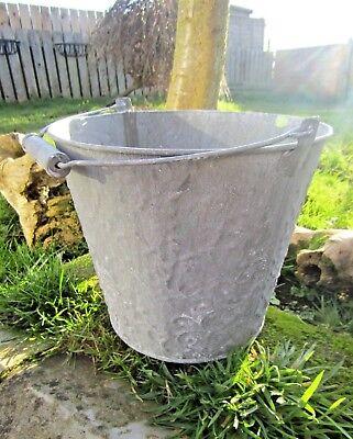Hand Finished Zinc Metal Plant Flower Pot Bucket Holder Planter With Handles