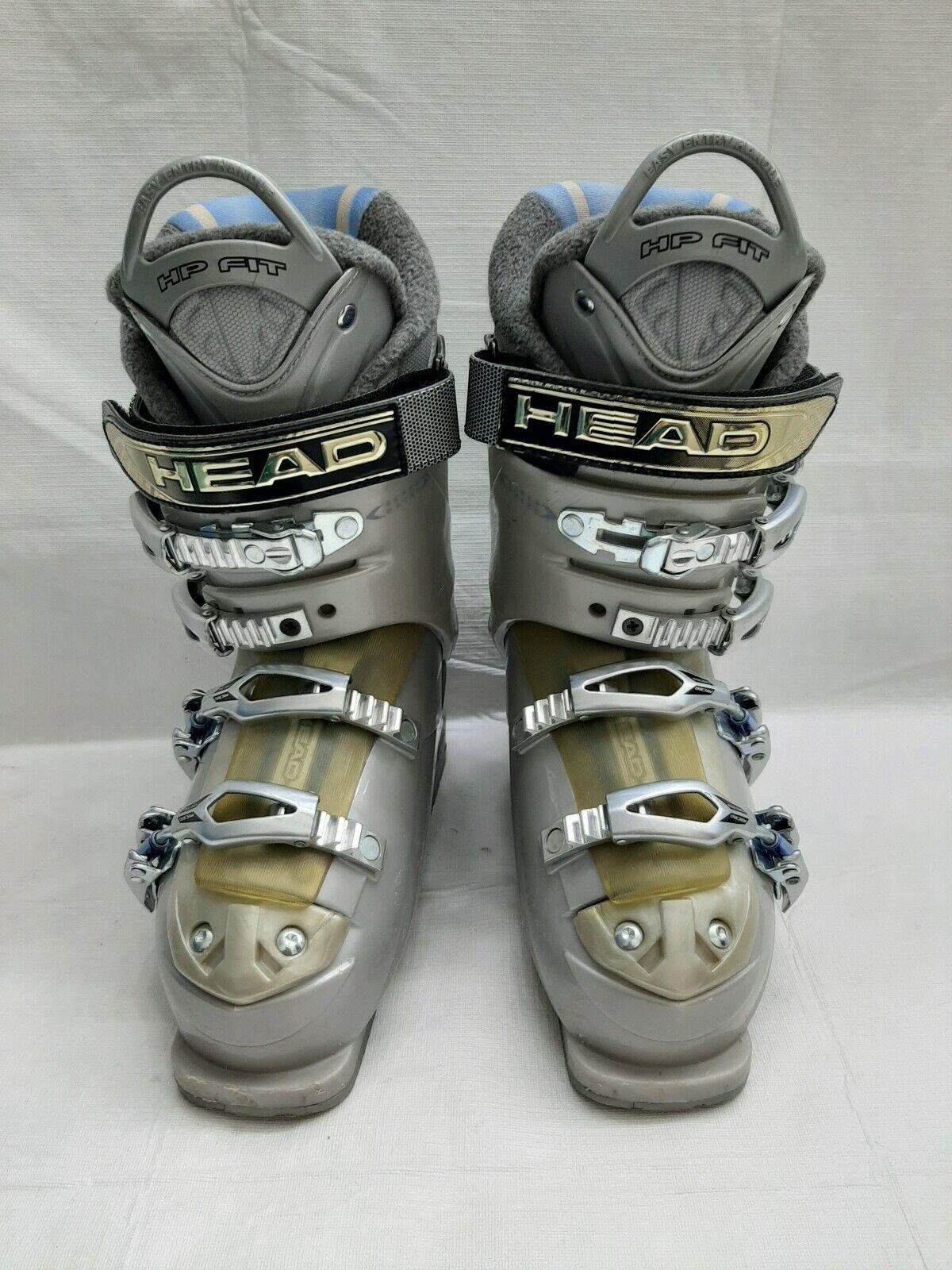 Head Edge 9.8 Silber 274mm ski Stiefel Größe 23-23.5, US 5 mens