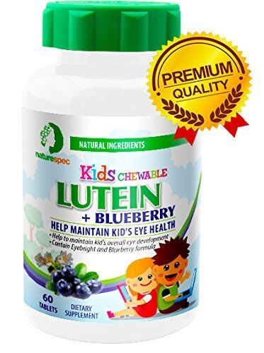 Lutein With Optilut 10 Mg: 6 Bottle Nature Spec Kids Chewable Lutein Eye Supplement