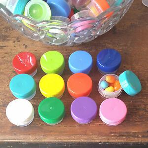 55-JARS-Pot-25oz-Mini-Container-posh-1tsp-1-4oz-3301-Color-Caps-DecoJars-USA