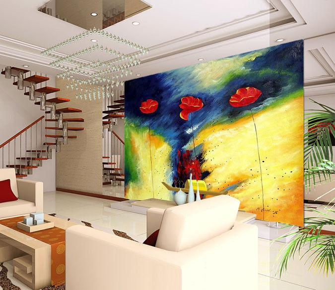 3D Abstract Flowers 87 Wall Paper Murals Wall Print Wall Wallpaper Mural AU Kyra