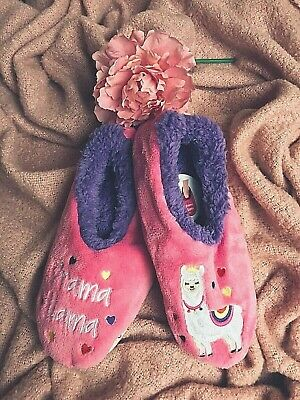 Snoozies PINK Flamingo Fleece Slippers Socks Ballet Pumps Animal Lovers Gift