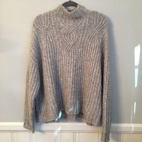 AERIE Oversized Grey Lofty Sweater Size Large