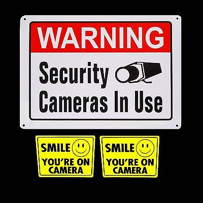 LOT WATERPROOF SURVEILLANCE HOME SECURITY VIDEO CAMERAS WARNING YARD FENCE SIGNS