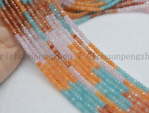 Natural-2x4mm-Faceted-Multi-Color-Jade-Gemstone-Rondelle-Abacus-Loose-Beads-15-039-039