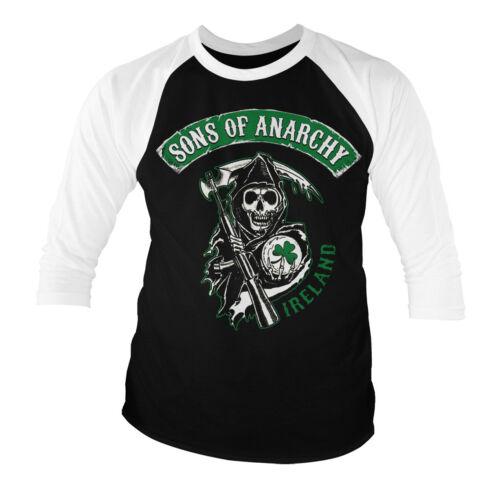Ireland Baseball 3//4 Sleeve T-Shirt S-XXL Sizes Officially Licensed SOA