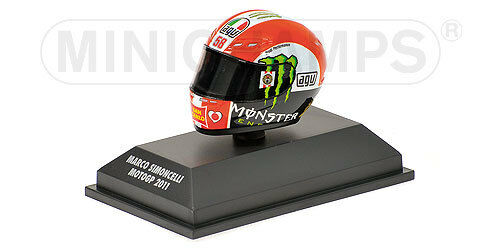 1:8 AGV Minichamps Marco Simoncelli Helmet Casco 2011 rossi 398110058 RARE NEW