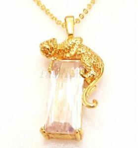24k yellow gold plt leopard on simulated diamond rock pendant la imagen se est cargando 24k amarillo oro plt leopardo en simulado diamante aloadofball Gallery