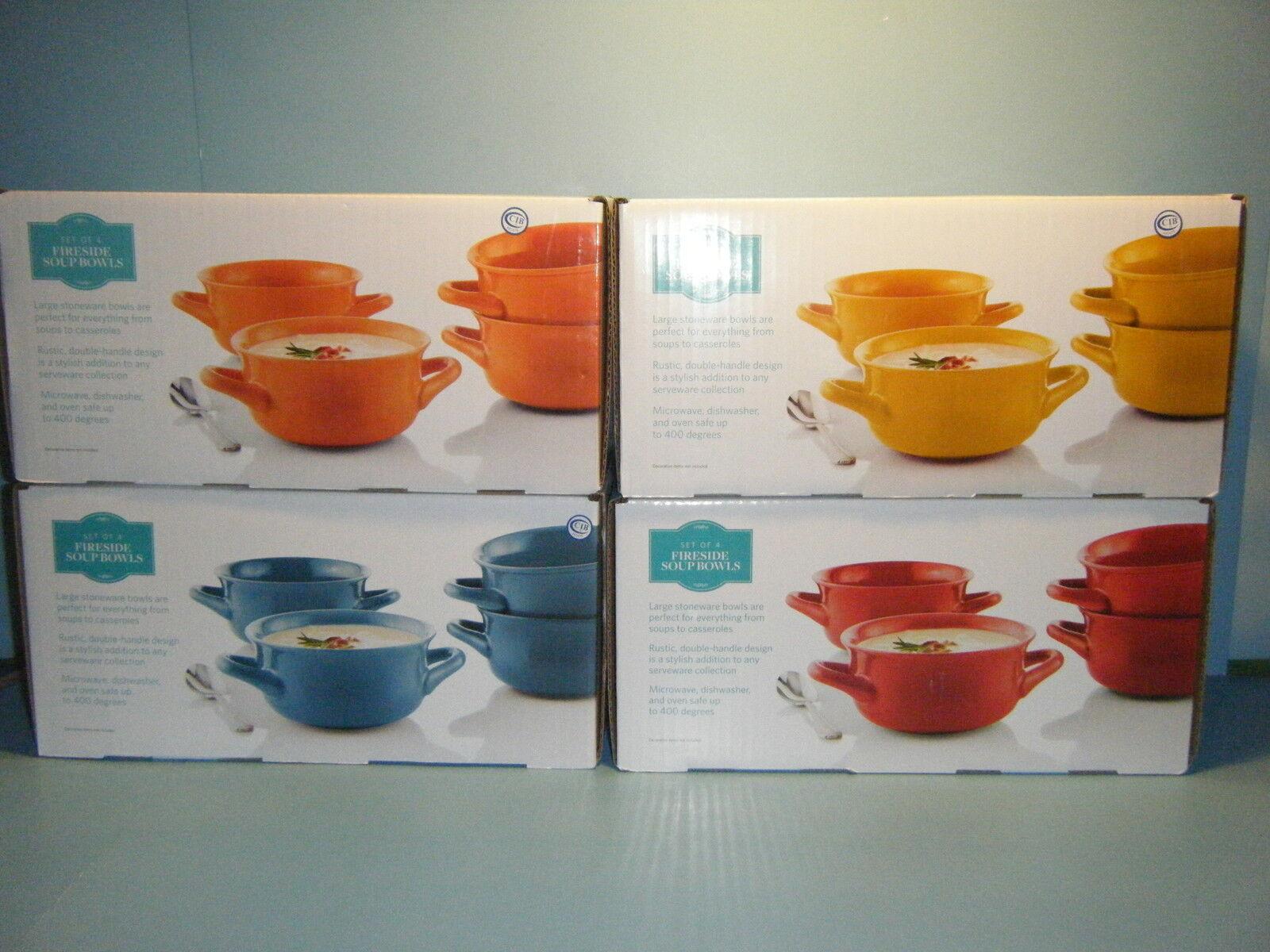 SAM'S CLUB Ensemble De 4 Rouge ou 4 Orange Fireside bols à soupe  NEUF