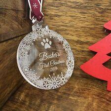 Regalo Personalizado Para Mascotas Adorno Árbol de Navidad Decoración