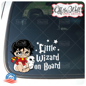 Baby-Harry-and-Pet-Owl-034-Little-Wizard-on-Board-034-Sign-Vinyl-Sticker-DCV1