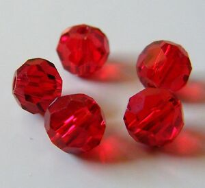100pcs-6mm-Faceted-Round-Crystal-Beads-Red-2