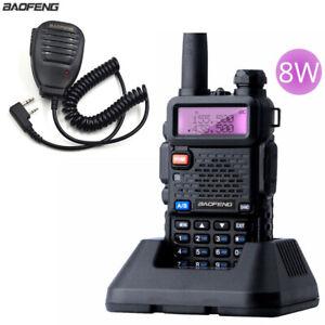 Baofeng-UV-5R-Real-8W-Walkie-Talkie-Dual-Band-VHF-UHF-FM-Radio-uv-5r-Speaker-Mic