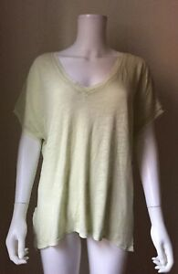 NWT FREE PEOPLE Take Me Tee Top Small S Deep Caramel Color New FP Retail $58