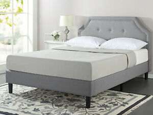 Zinus Lyon Upholstered Button Tufted Platform Bed Frame