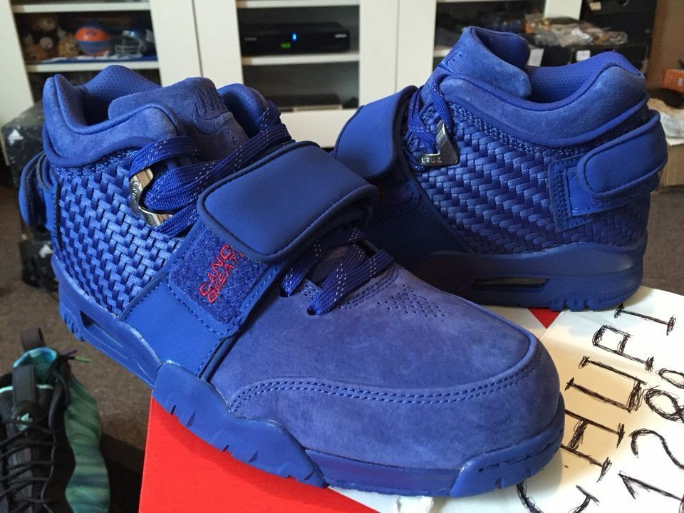 Nike Air Air Air Trainer Victor Cruz PRM Premium Rush bluee Gym Red NY Giants 812637-400 6ef148