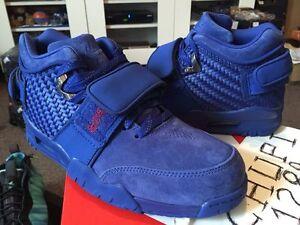 63e067f56 Nike Air Trainer Victor Cruz PRM Premium Rush Blue Gym Red NY Giants ...