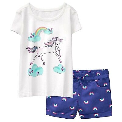 Gymboree Girls Unicorn Tee Leggings  18-24 2T 3T 4T NWT