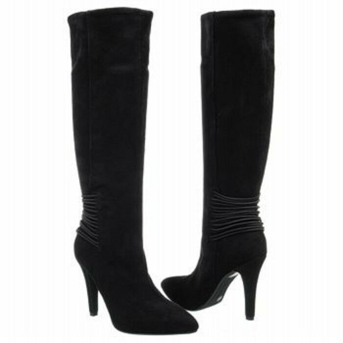 BCBG Eclipse Black Faux Suede Knee-High Fashion Boots, 8.5M - MSRP $139