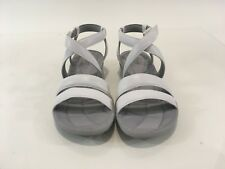463bf955d1e Clarks Women Cloud Steppers Sillian Spade White Strappy Sandals Size 9M