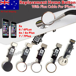 Replacement Home Button With Flex Cable Apple For iPhone 5s 6 6S 7 7Plus 8 8Plus