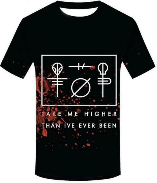 New Fashion Women//Men Twenty One Pilots Rock Band 3D Print Casual T-Shirt E15