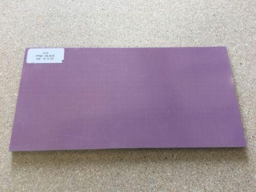 """G10 Bush en funcionamiento Craft Rosa//Negro 1//4/"""" 6/"""" X 12/"""" hojas de para madera cuchillo de decisiones"""