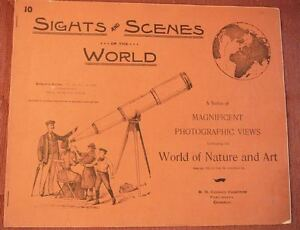 1894 Sights and Scenes of the World #10 photographic views