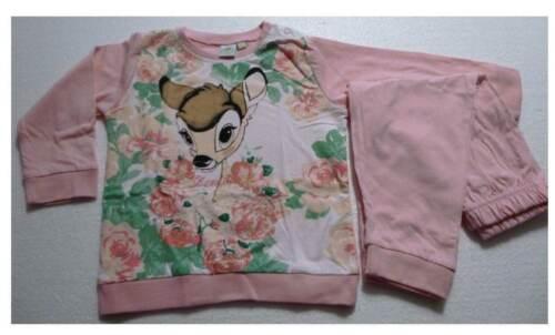 Disney Bambi Mädchen Pyjama Schlafanzug 100/% Baumwolle  12-30M