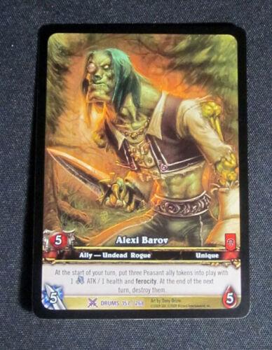 Lot de 5 World of Warcraft WOW TCG Alexi barov Tambours de Guerre allié Epic