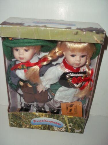 GERMAN COLLECTION DOLL SET BOY & GIRL METAL STANDS PORZELLANPUPPE Puppen & Zubehör