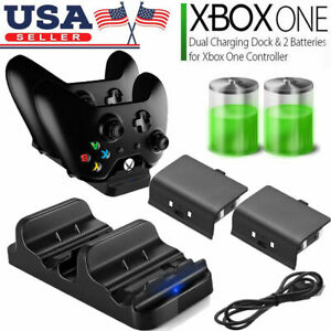 XBOX-ONE-Dual-Charging-Dock-Station-Controller-Charger-2-Extra-Battery-Packs