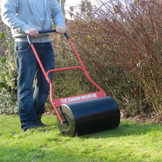 FOX 40 Metal Garden Lawn Roller 500mm Water 50kg Sand 86kg Concrete 105kg