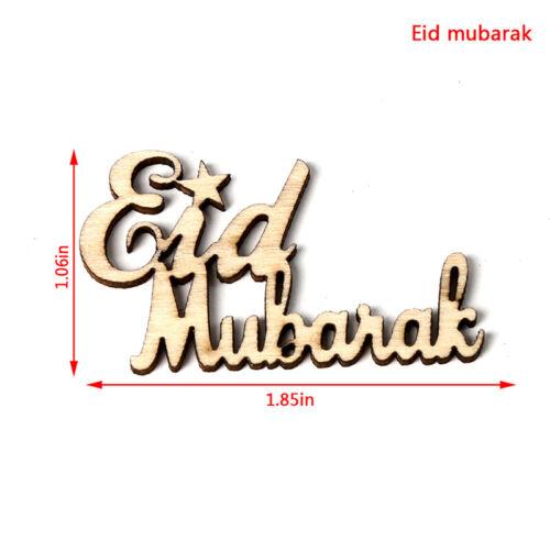 15pcs Ramadan Kareem Table Confetti Wooden Eid Mubarak Party Scatter Dec TDCA