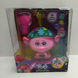 Trolls-World-Tour-Poppy-Styling-Head-Damaged-Packaging-Brand-New-65290