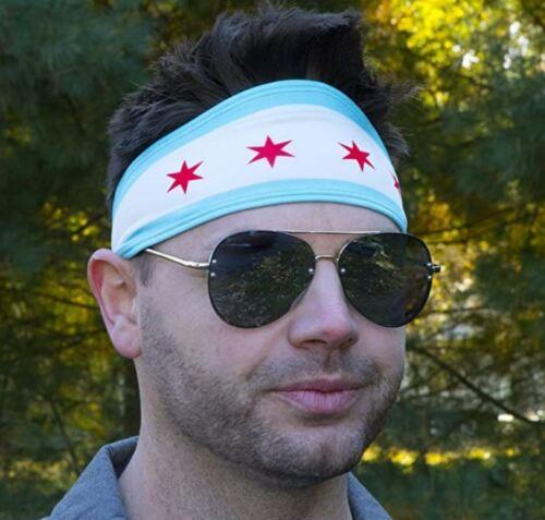 International Tie Chicago Drapeau antidérapantes élastique Sports Bandeau pour les hommes et les femmes