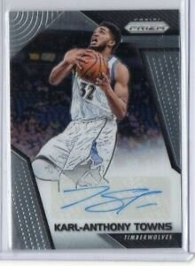 2017-18-Karl-Anthony-Towns-Panini-Prizm-Auto-SG-KT-Autograph-Timberwolves-NBA