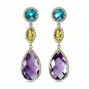 Gorgeous-Drop-Earrings-for-Women-925-Silver-Jewelry-Cubic-Zircon-Earrings