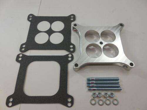 """Carburetor Spacer Square Bore 4 Port with hardware 1/"""" Billet fit 4150 carb"""