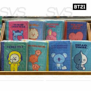 BTS-BT21-Official-Authentic-Goods-A5-Sprial-Ring-Notebook-8Characters-Tracking