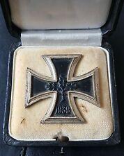 ✚7490✚ German Iron Cross First Class medal post WW2 1957 pattern CASED ST&L